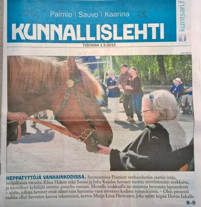 Kunnallislehti etusivu 1.9.2015