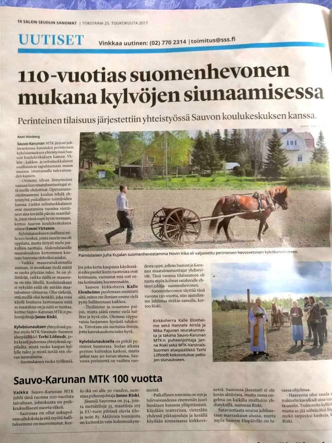 Salon Seudun Sanomat 25.5.2017